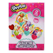 Shopkins Valentine Candy Card Kit 12 Cards and 12 Lollipops