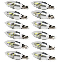 6x 6W E14 LED Candle Bulb SES SMD Lamp Day White Small Edison Screw Spotlight