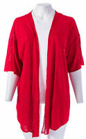LANE BRYANT Sheer Drape-Front Open Cardigan Over-Piece Size 14/20