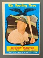 1959 Topps #564 Mickey Mantle HOF All-Star New York Yankees High Number NM