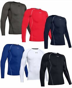 Under Armour Mens Heatgear Compression Long Sleeve Shirt Winter Baselayer Top