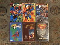 SUPERMAN TPB Lot Doomsday Hunter Prey 1-3, Greatest Stories, Kal, Man Of Steel