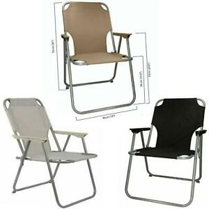 Folding Camping Chairs Picnic Fishing Deck Chair Beach Outdoor Seat Garden Patio