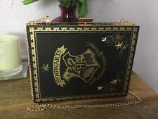 Primark Harry Potter Hogwarts Negro Oro Hechizo Libro Embrague Cadena Bolso de hombro