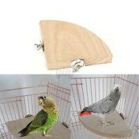 Wooden Coin Parrot Bird Cage Perches Stand Platform Pet Budgie Hanging Toy Hot