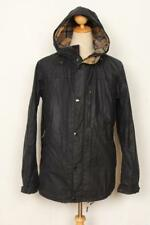 Mens BARBOUR Millom Hooded WAXED Jacket Navy Size XL