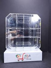 Clear Acrylic Wall Hanging 16 Adjust Space Miniature Perfume Shadow Box Display