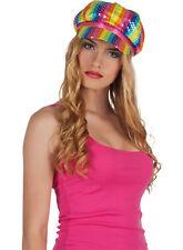 Regenbogen Lollipop Mütze NEU - Karneval Fasching Hut Mütze Kopfbedeckung