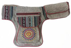 Tribal Aztec Fanny Pack Money Belt Multi-color Bag Unisex Waist Pack Belt Cotton