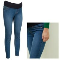 Maternity New Look Under Bump Skinny Jeggings Blue Sizes 10 - 18