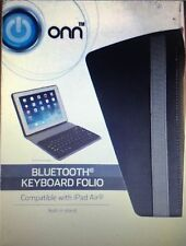 New ONN Bluetooth Keyboard Folio for iPad Air with Build-in stand Black