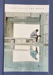 Kobe Bryant Hang Time at The Getty Museum Rare Original 2002 Poster Very Good