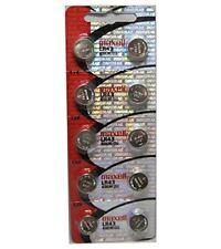 10 Pcs LR43 / 186 AG12 GP86A 1.5v Maxell Alkaline Button Cell Battery Batteries
