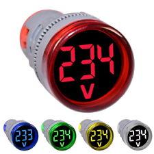 50-500V AC Voltmètre à Panneau Display Affichage LCD Indicateur de Tension Rouge