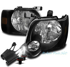 FOR 06-10 FORD EXPLORER/07+ SPORT TRAC REPLACEMENT HEADLIGHTS BLACK W/50W 6K HID