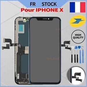 LCD OLED POUR IPHONE X/10 ECRAN VITRE TACTILE 5.8'' SUR CHASSIS NOIR + OUTILS