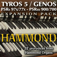 HAMMOND organ - Expansion Pack for Yamaha Genos, Tyros 5, PSR 97x, sx900 etc