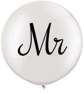 3ft Mr & Mrs Printed Latex Balloons