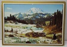 Mount Rainier National Park Washington Vintage Postcard