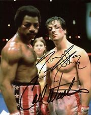 Sylvester Stallone - Carl Weathers (Rocky), Dual Hand Signed 10 X 8 Photo.