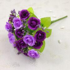 ARTIFICIAL SILK FLOWERS BUNCH Wedding Party Home Outdoor Bouquet Decor Acces