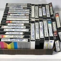 Vintage Lot Of 28 Pre-Recorded VHS Video Cassettes VCR Tapes Sold As Used Blanks