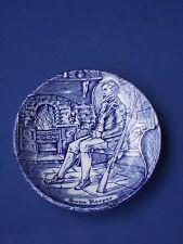 ENOCH WEDGWOOD TUNSTALL SMALL BLU E BIANCO CERAMICA pin Piatto Gioco detentore 10.5 cm