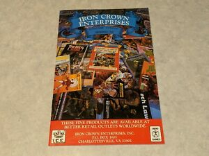 ICE IRON CROWN ENTERPRISES Vintage Spring 1987 RPG Game Catalog Middle Earth ++