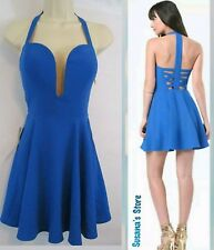 NWT bebe Halter Crisscross Dress SIZE M Gorgeous, Super sexy $148