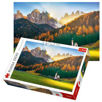 Trefl 1500 Piece Adult Church In Dolomites Italy Large Floor Jigsaw Puzzle NEW