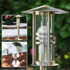 Stehlampe Aussen Steh Leuchten Sockelleuchte Edelstahl Garten Wege Lampe Poller
