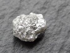 2.5ctw raw silver diamond nugget, 4.6mm x 9mm x 7.5mm
