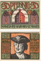 Germany 50 Pfennig 1922 Notgeld Oranienbaum UNC Uncirculated Banknote