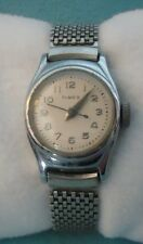 Vintage Women's Timex Bezel Plated Stainless Steel Back Watch