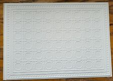 Dollhouse Miniature Ceiling Paper Embossed Textured Foam Board 1:12 Scale 34943
