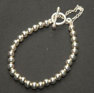 SILPADA - B0059 - Sterling Silver Bead Bracelet w/ Toggle Clasp