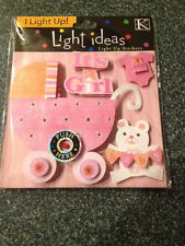 IT'S A GIRL K & Company Light Ideas Light Up Stickers Embellishments K&COMPANY