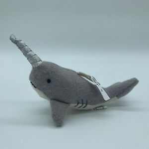 ~NEW~ Pier 1 NARWHAL Plush Ornament ~ Great Everyday Gift or Christmas Ornament