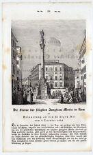 Statue der seligen Jungfrau Maria-Rom Holzschnitt 1859