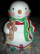 HALLMARK Keepsake GUMDROP SNOWMAN Musical Light TABLETOP DISPLAY Gingerbread Man