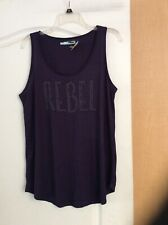New Maurices - Plum  Color, Studded REBEL Front women Top Size XL