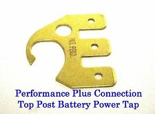Brass Top Post Battery 3 Circuit Power Tap .250 Push-On Connector Wirthco 30703