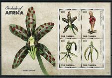 Gambia 2011 Mnh orquídeas de África 4v m/s me Flores Flora
