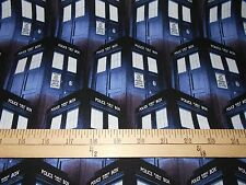 """1 Yard Springs Doctor Who """"Packed Tardis""""  Fabric"""