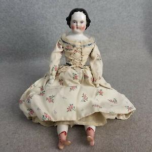 """16"""" antique German Kestner China Shoulder Head Doll with fancy pink boots"""