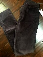 NWT Gap Kids Super Skinny Corduroy Cord Jegging Pants 8 plum Girls 1969 mid rise