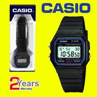 Casio F-91W-1YER Retro Stopwatch Alarm Classic Black Watch Official UK Stockist