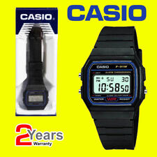 Casio F-91W-1YER Retro Stopwatch Alarm Classic Black Watch Official UK Stockist