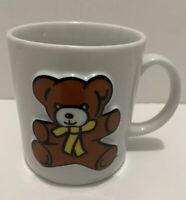 Vintage Similac Infant Formulas Teddy Bear Coffee Mug White Cup Baby Food