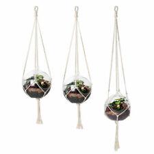 pure cotton rope flower pot hanger plant garden hanging wall basket holder s/m/l